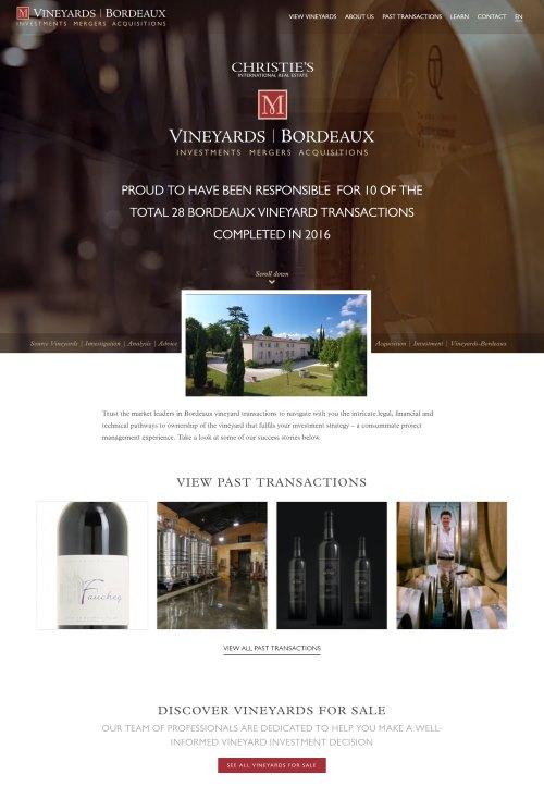vineyards-bordeaux website-screenshot